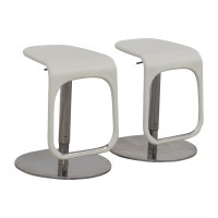 58% OFF - IKEA IKEA White Modern Bar Stools / Chairs