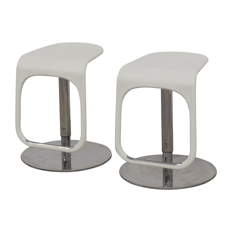 ikea bar chair office lumbar support cushion 58 off white modern stools chairs