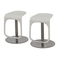 58% OFF - IKEA IKEA White Modern Bar Stools / Chairs