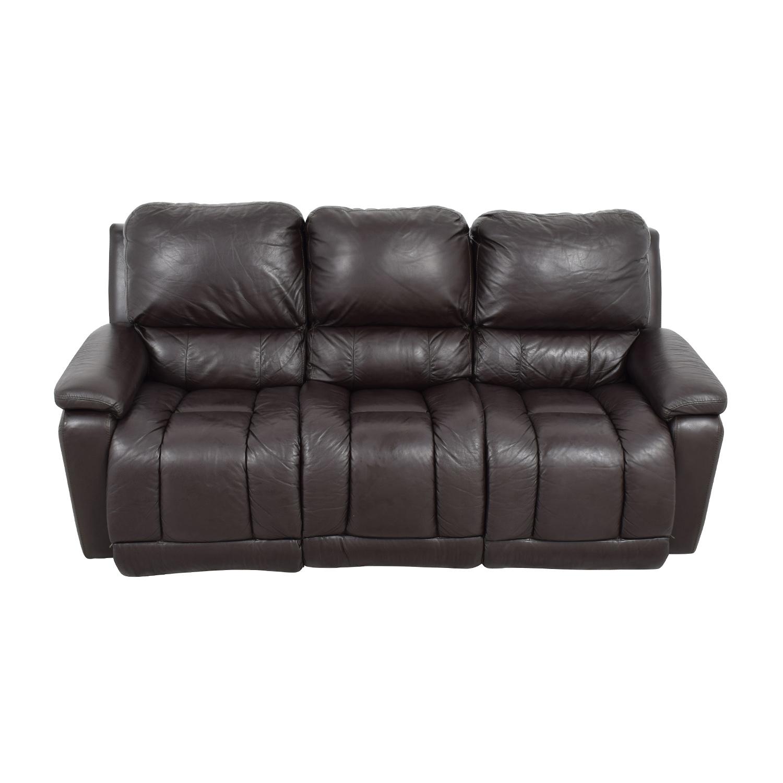 reclining sofa leather brown flexsteel brandon reviews 77 off la z boy