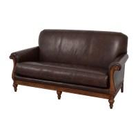73% OFF - Thomasville Thomasville Mid-Century Leather Sofa ...