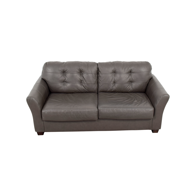 [ashley furniture blue sofa]