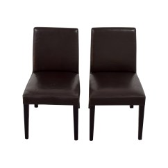 Chairs Crate And Barrel Hon Desk Chair 90 Off Brown Leather
