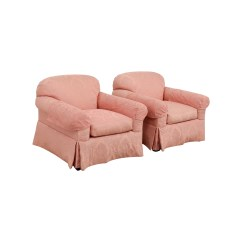 Pink Club Chair Foldable Ergonomic Chairs 90 Off Custom Damask