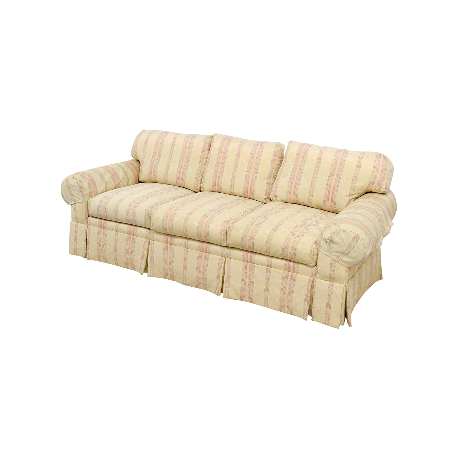damask sofa bed teno light gray cover 90 off mh stark cromwell collection custom