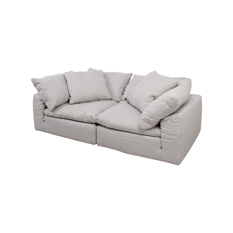 cloud sofa for sale removal cost white sofas aico damario gold leather