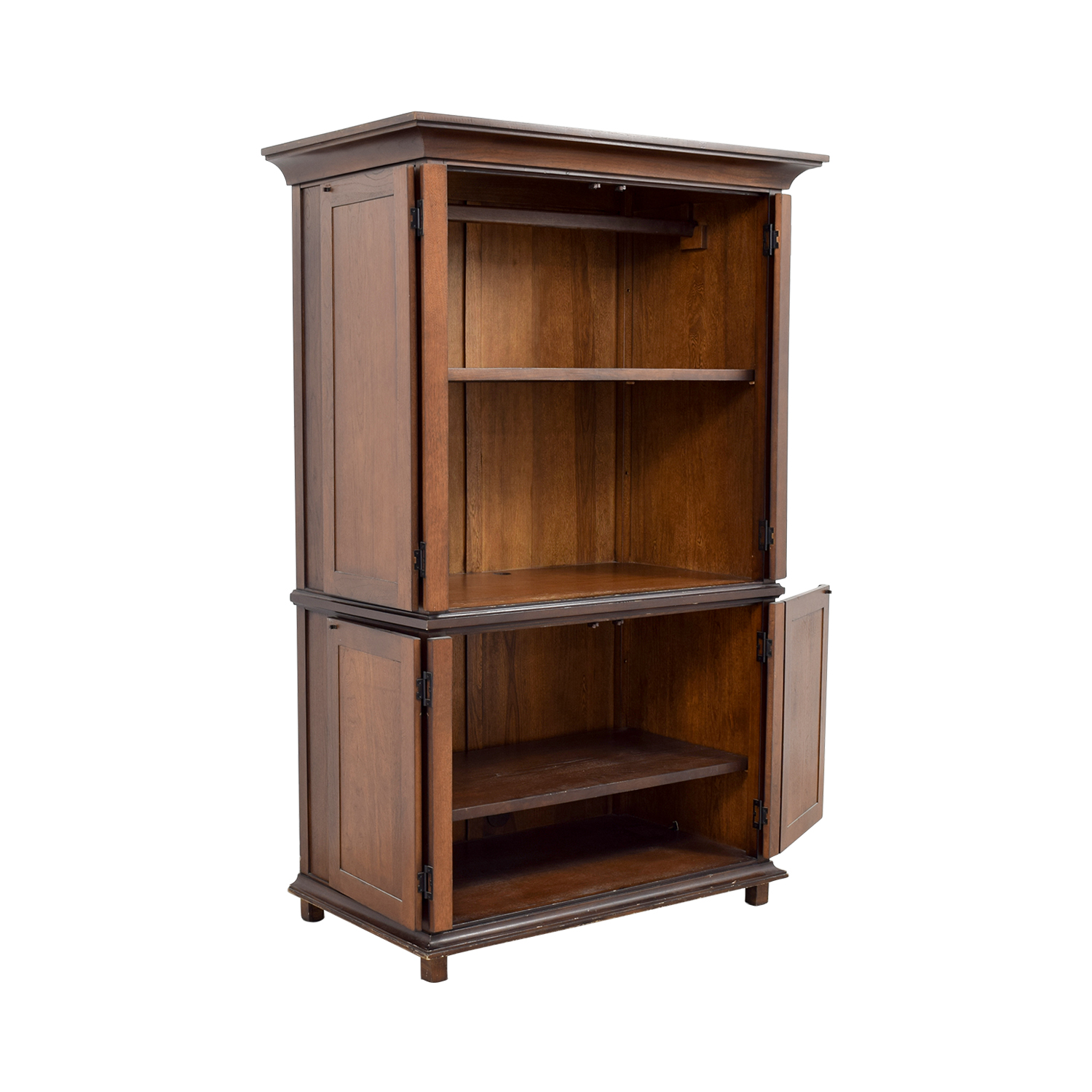 75% Off  Pottery Barn Pottery Barn Armoire With Shelves