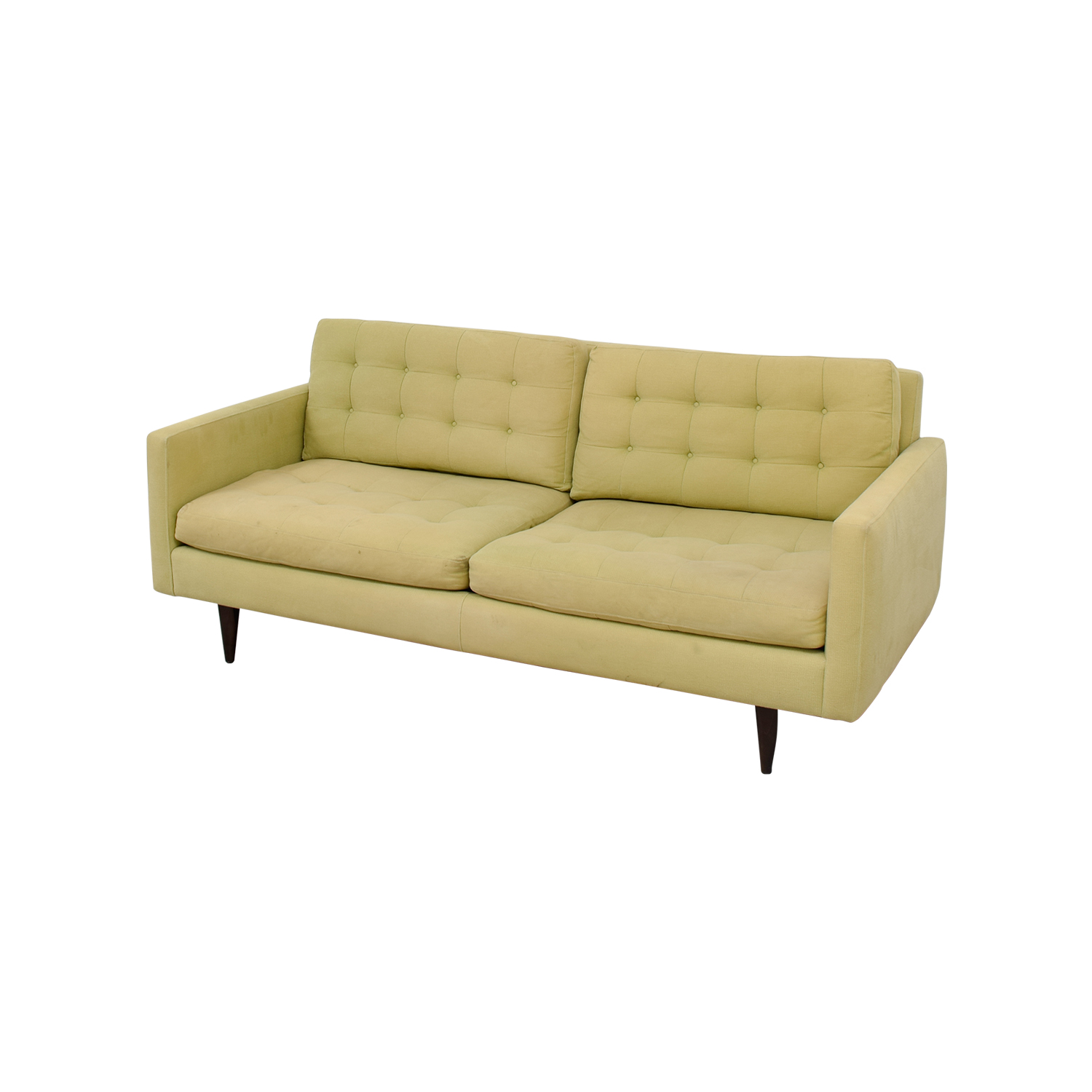 crate and barrel shelter sofa dimensions best memory foam topper for bed 77 off petrie pale green