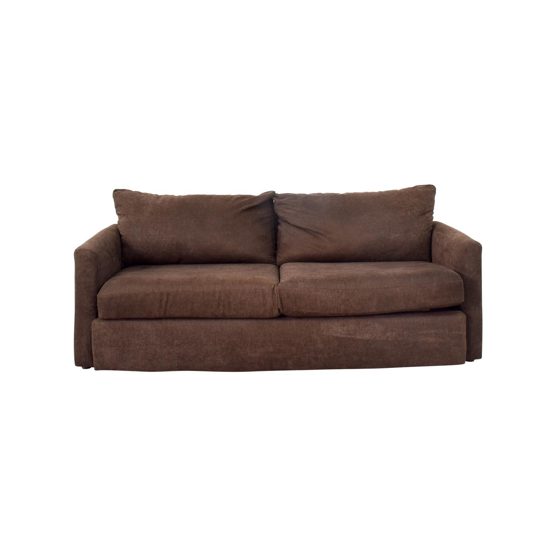 bobs furniture sofa recliner sofas uk 67 off bob 39s brown loveseat