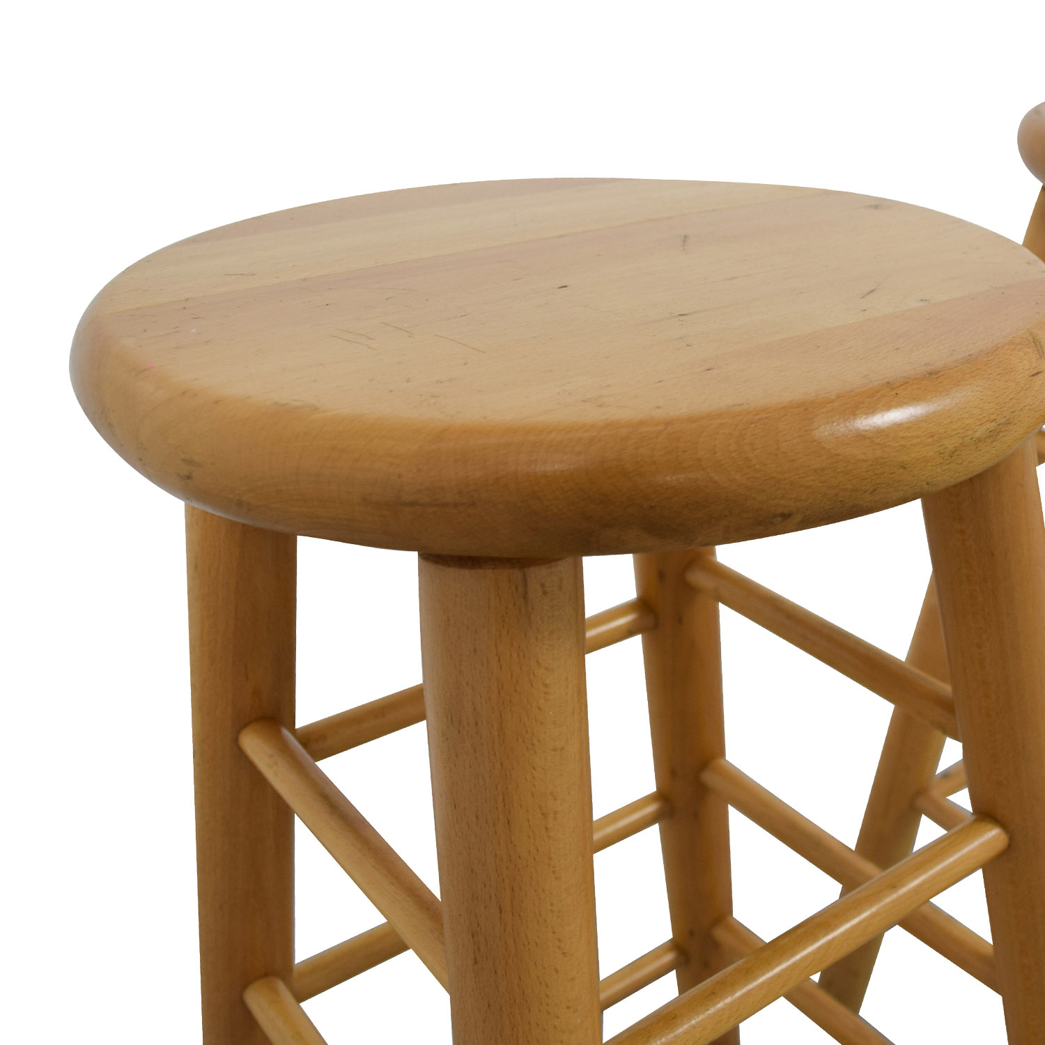 stool chair second hand modway edge office 83 off wood bar stools chairs