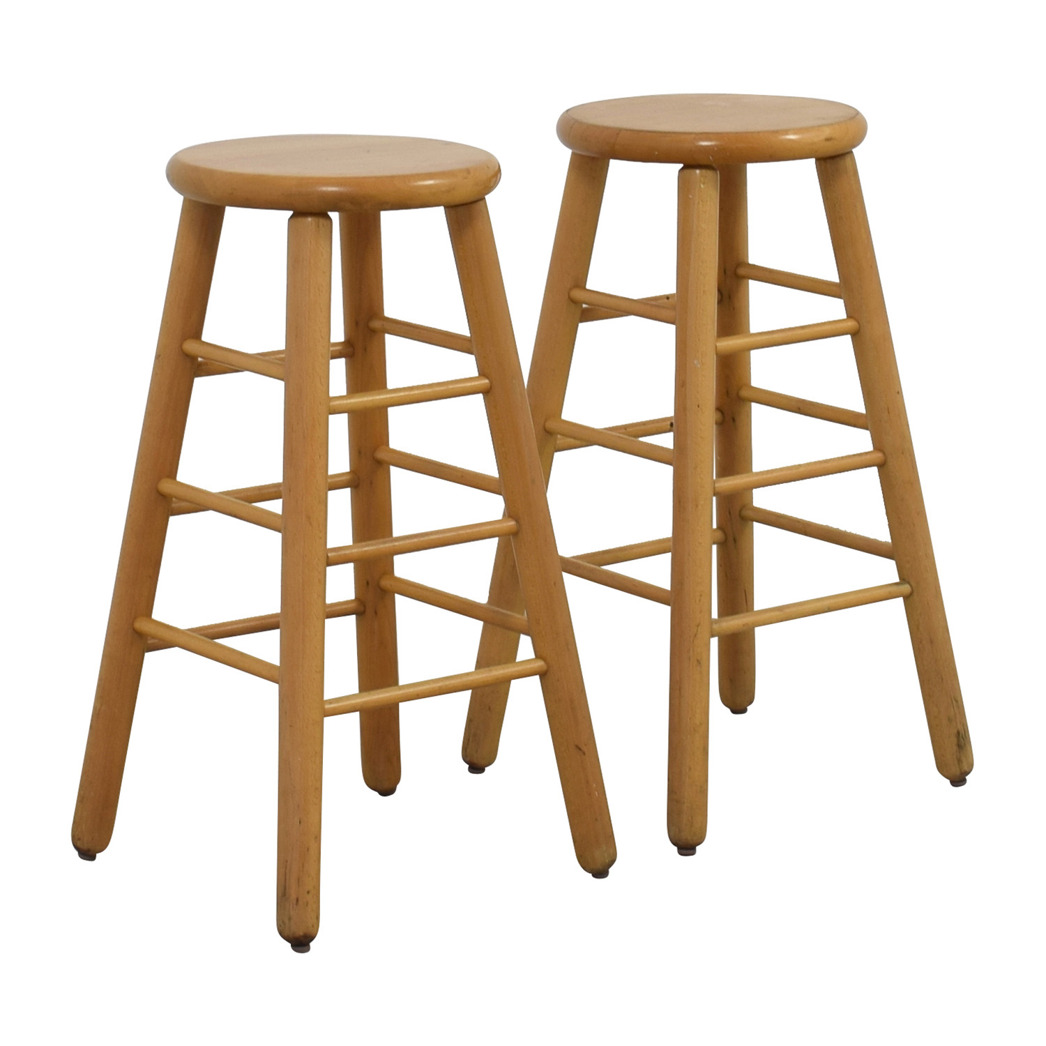 stool chair second hand dining room 83 off wood bar stools chairs