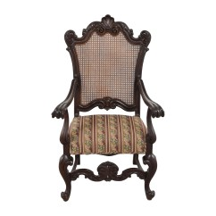 Antique Accent Chair Best Lumbar Support For Office 89 Off With Hole Caning Back Chairs