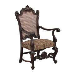 Antique Accent Chair Ikea Spinning 89 Off With Hole Caning Back Chairs