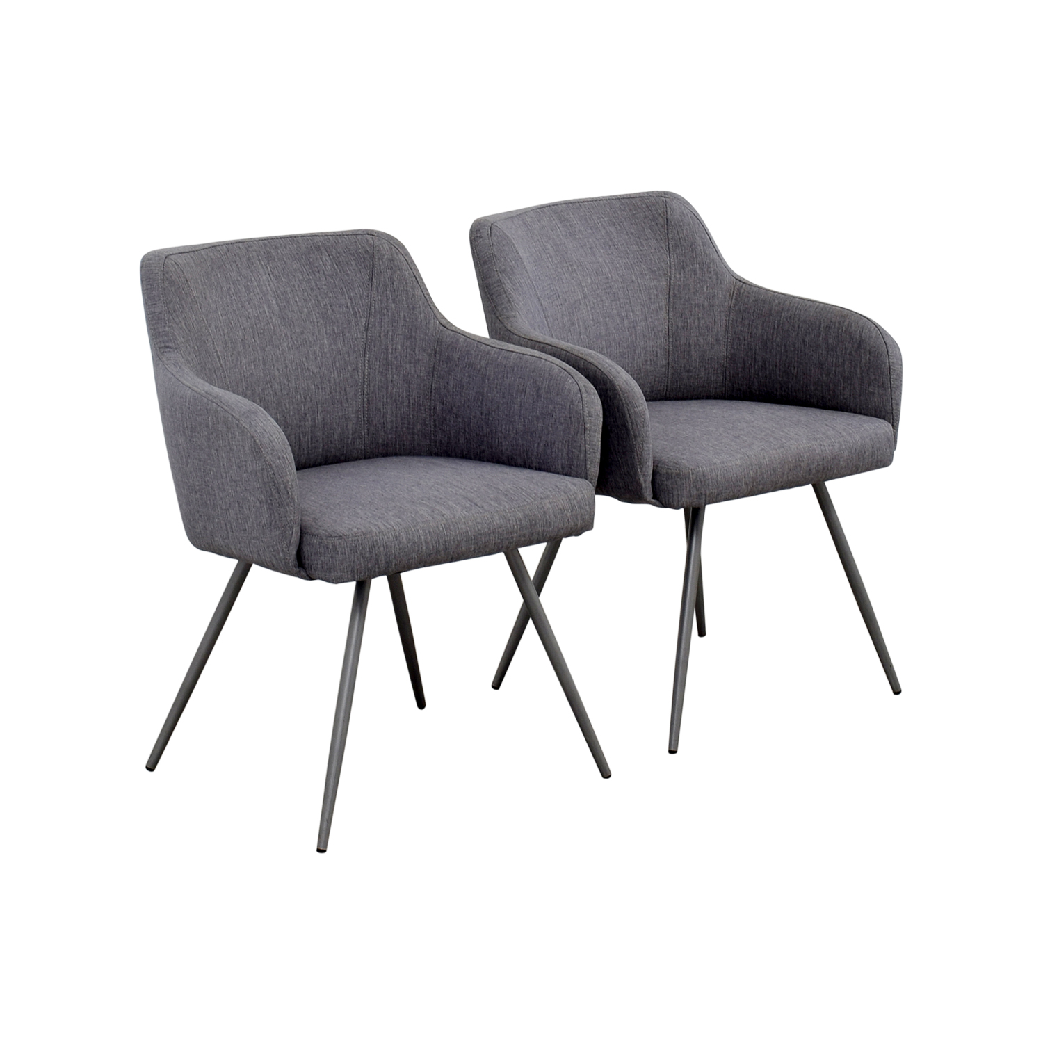 grey upholstered dining chairs faux fur saucer chair 63 off allmodern mid century