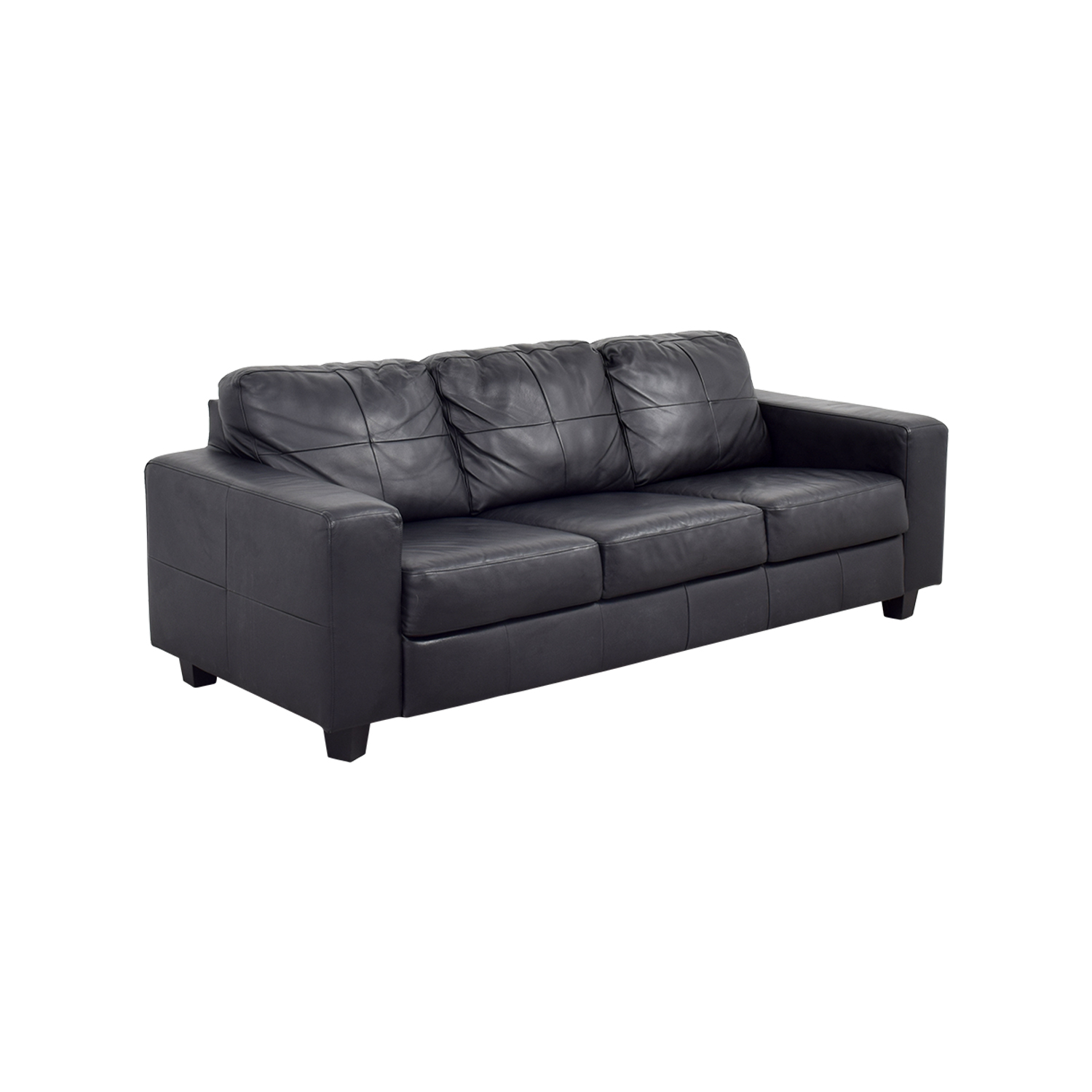 leather sofas ikea sofa sectional covers 44 off skogaby black