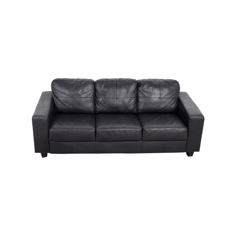 kramfors leather sofa used sleeper ikea brown sofas traditional