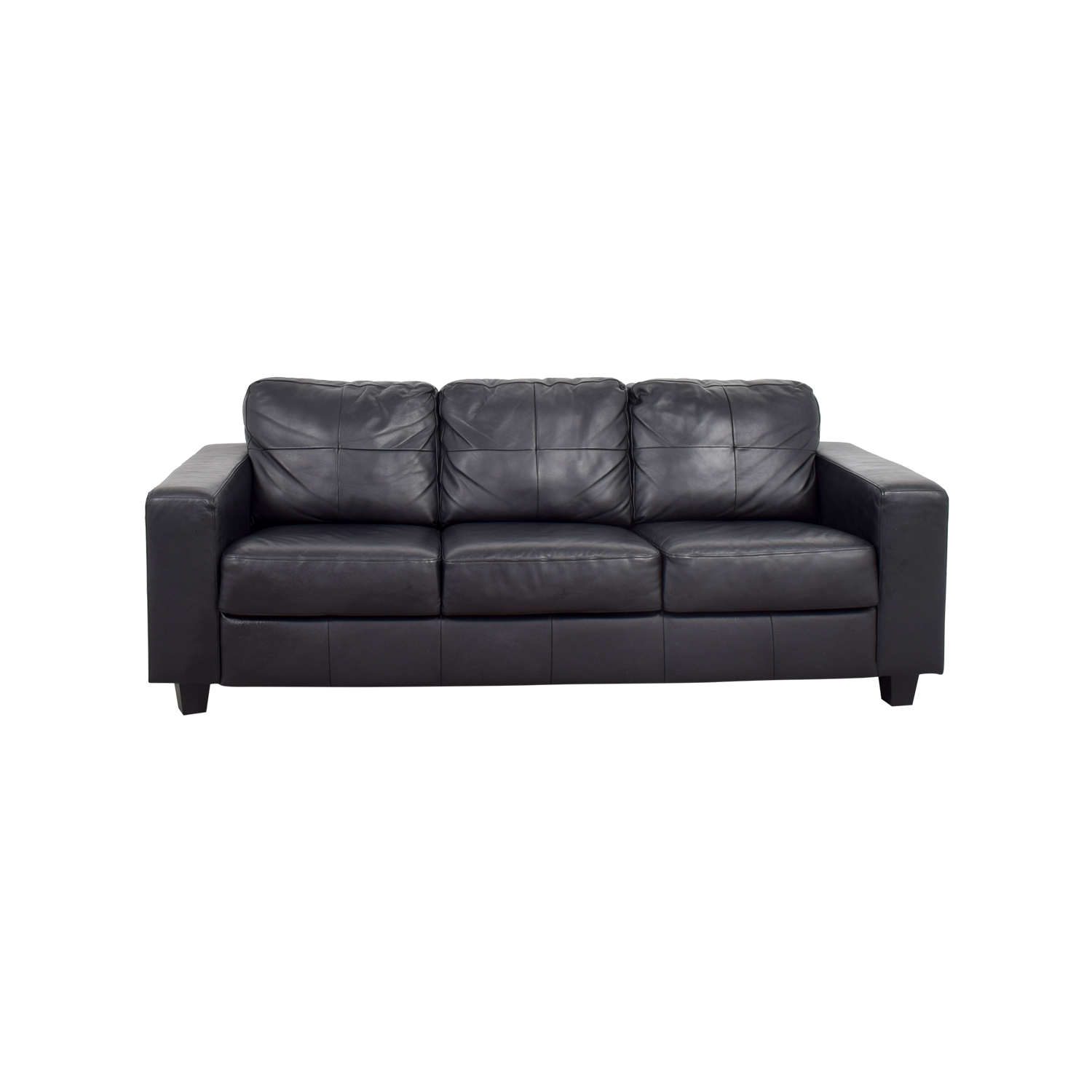 black leather chair ikea cushion replacement sofa 44 off skogaby