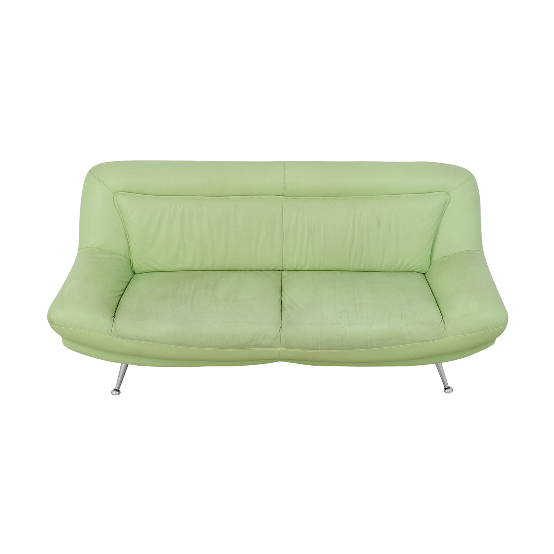 cb2 club leather sofa ashley furniture bradington truffle price mint green crate barrel lounge 83 and