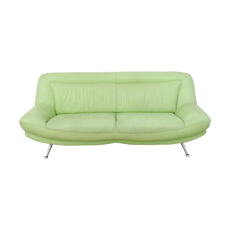 green leather corner sofa bed convert a couch sleeper mint home the honoroak