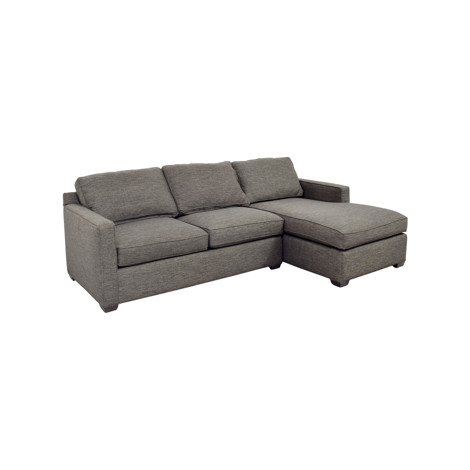 crate and barrel davis sofa leather best steam cleaner for 63 off grey