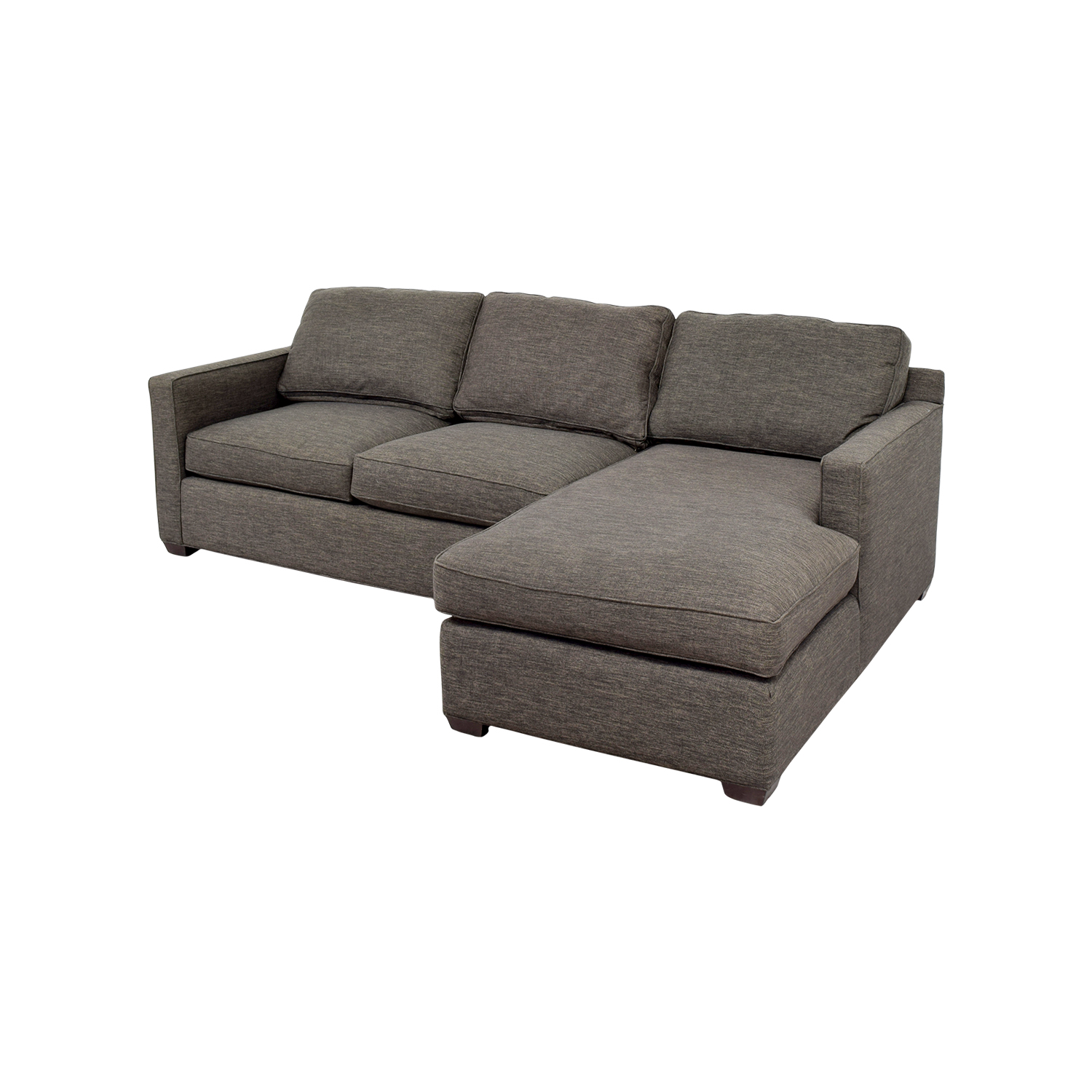 crate and barrel davis sofa leather abbyson living beverly grey fabric sectional 63 off