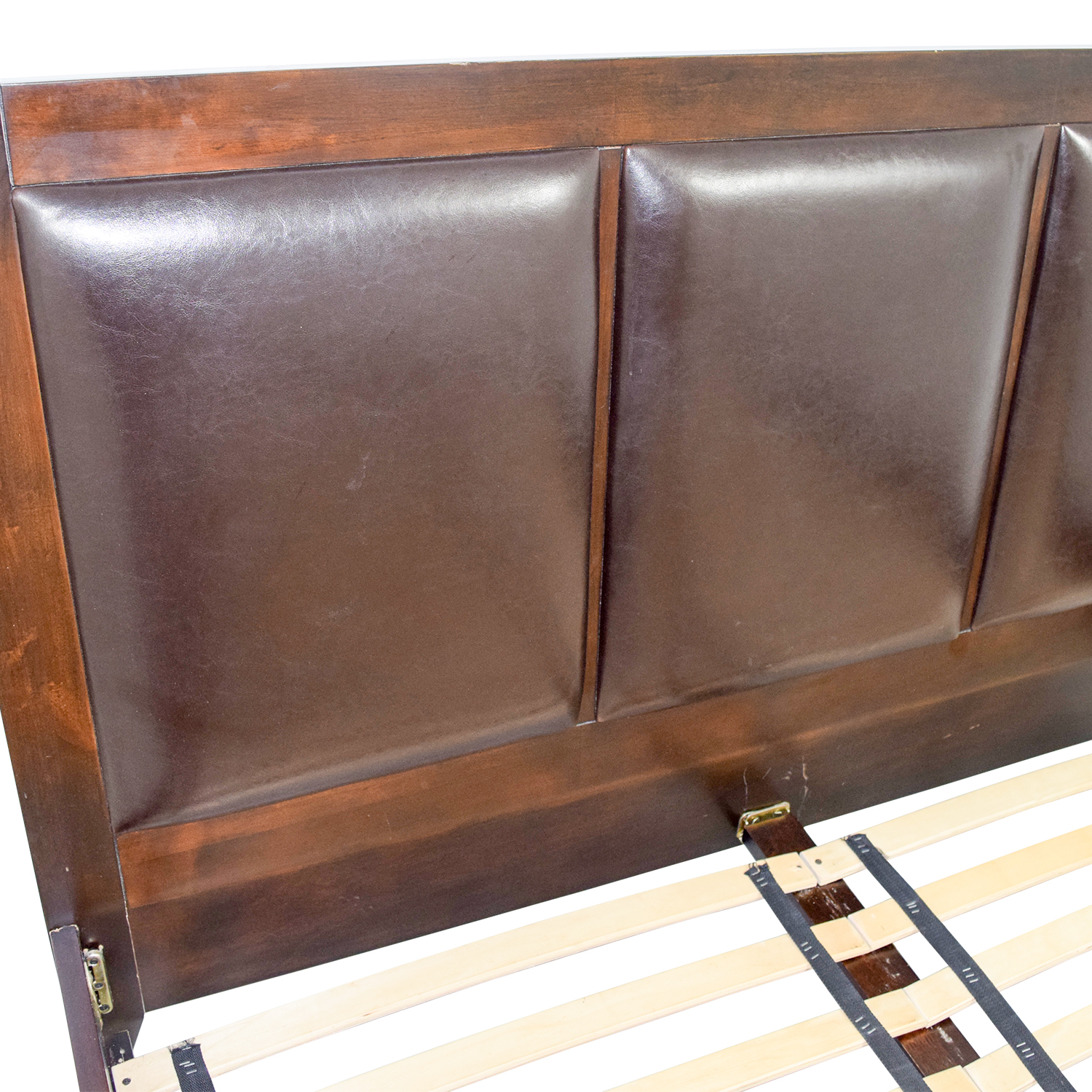 crate and barrel leather sofa bed antique french table 72 off brown