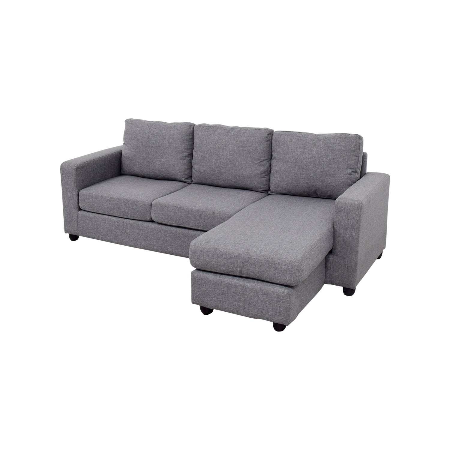 35 OFF  Grey LShaped Chaise Couch  Sofas