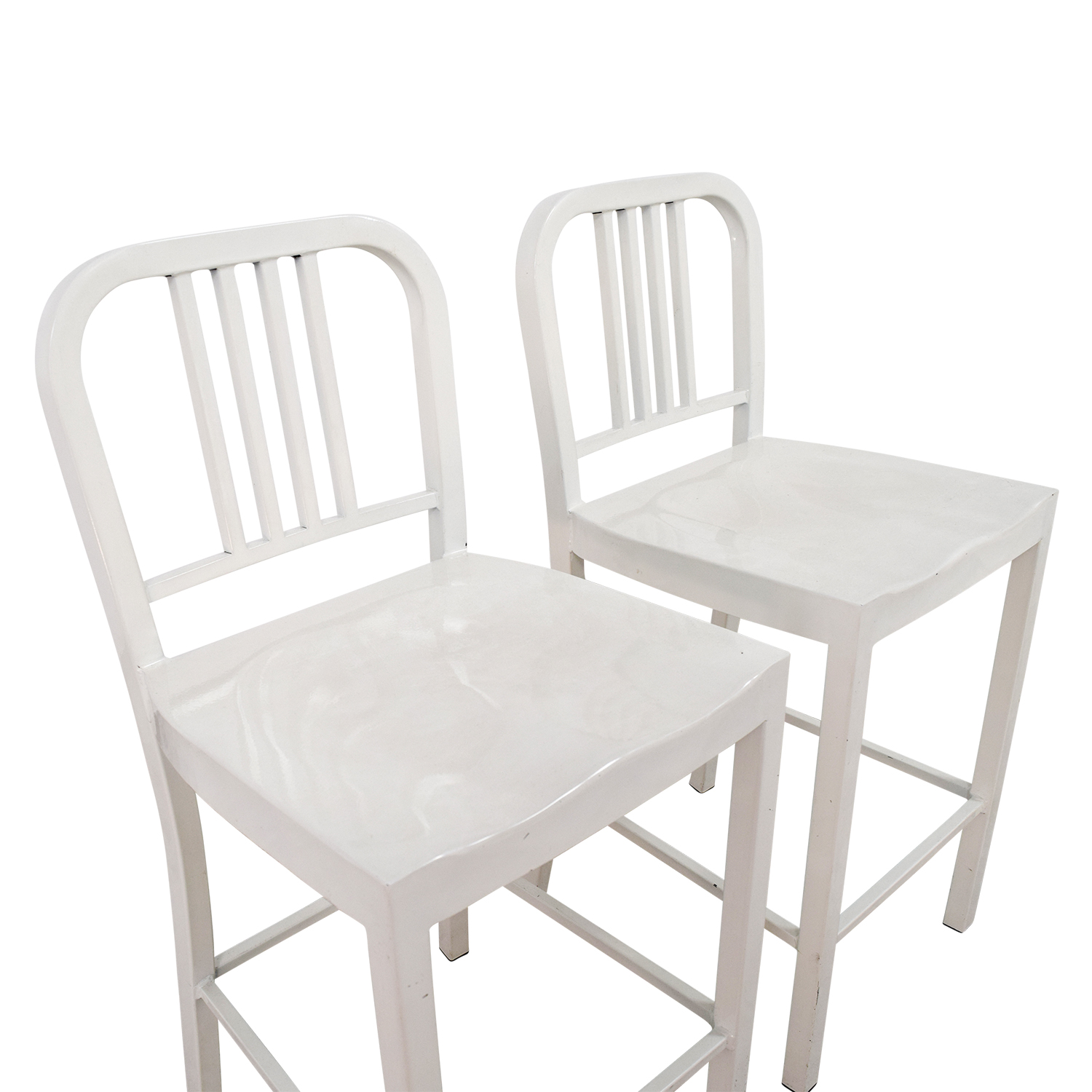 80 OFF  White Metal Chairs  Chairs