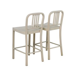 White Metal Chairs Leather And Fabric Dining 80 Off