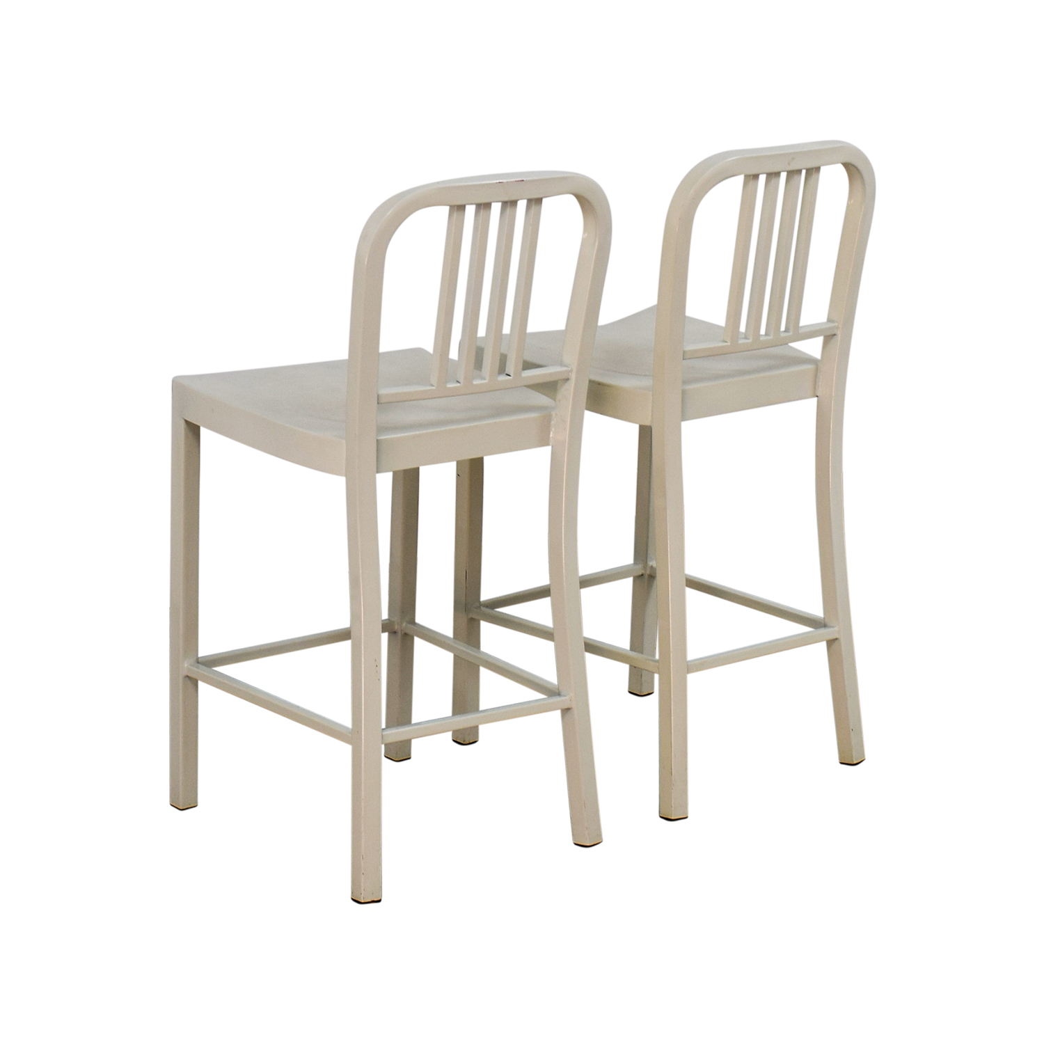 White Metal Chair 80 Off White Metal Chairs Chairs