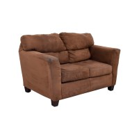 57% OFF - Bob's Furniture Bob's Furniture Brown Love Seat ...