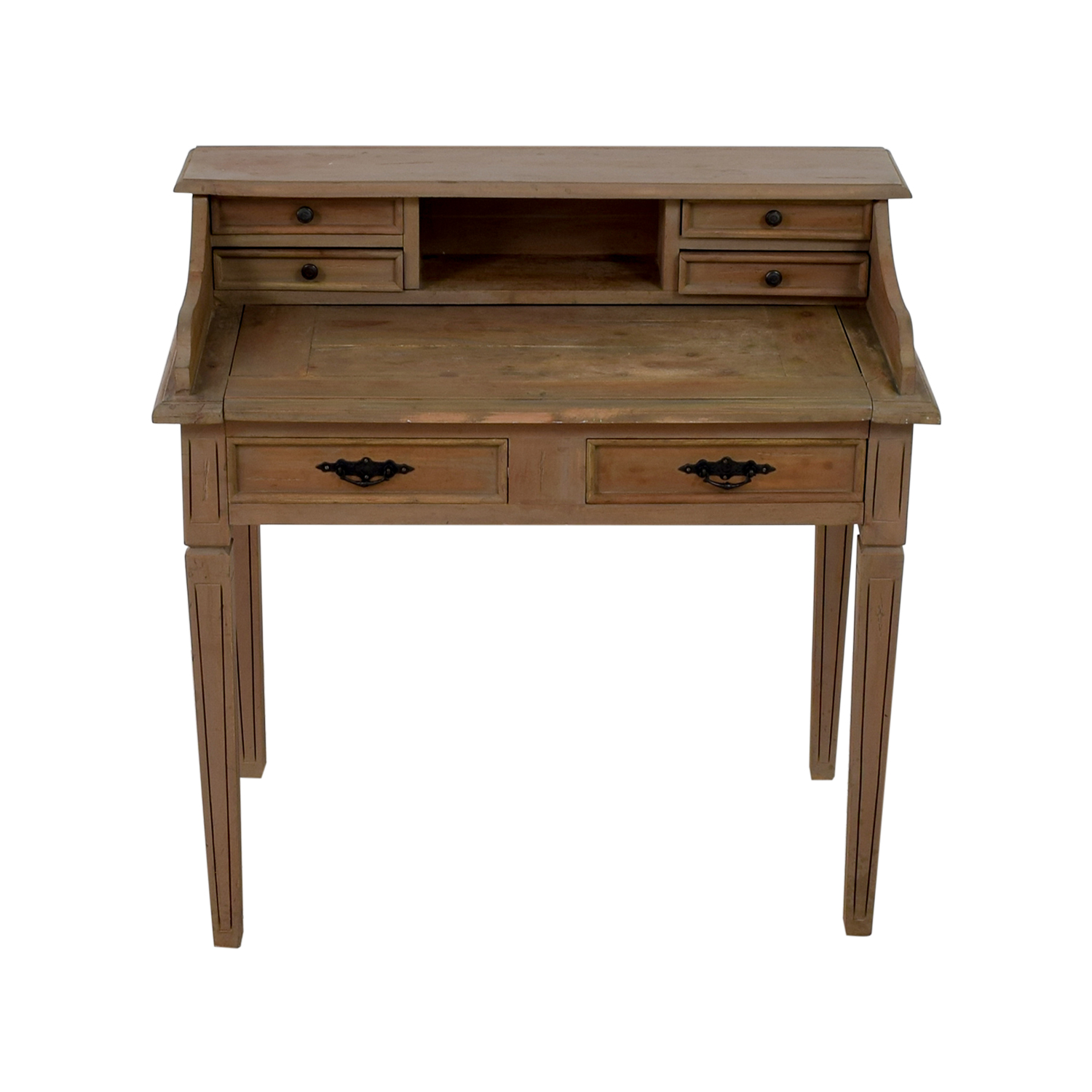 67 OFF  Wooden Desk with Small Hutch  Tables