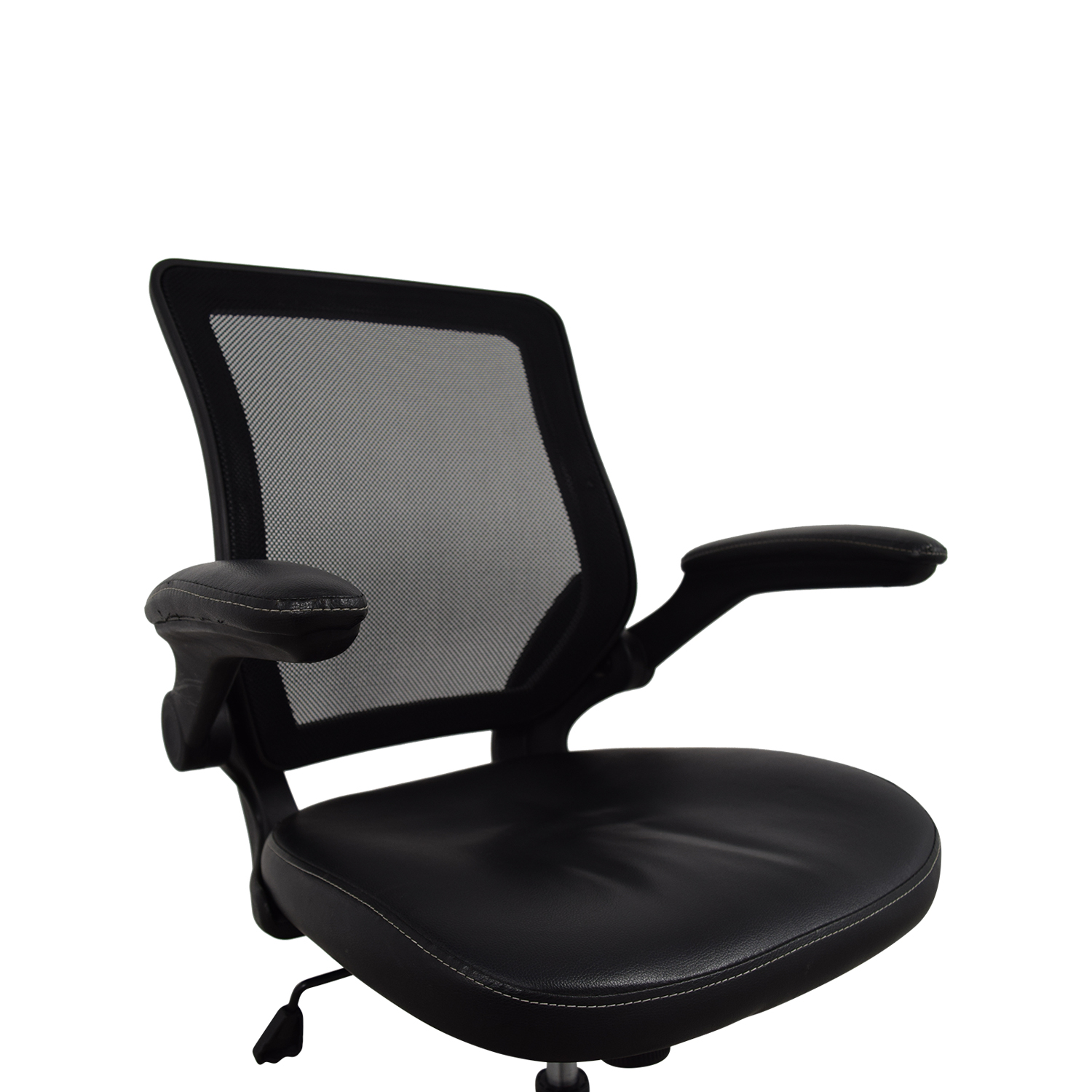 72 OFF  Adjustable Black Office Arm Chair  Chairs