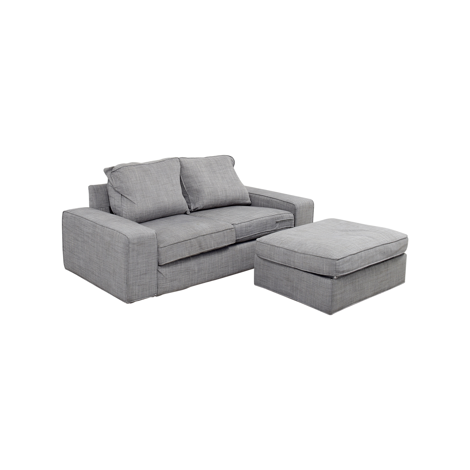 ikea chair with ottoman aluminum folding lawn chairs walmart 64 off kivik gray sofa and sofas