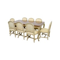 90% OFF - Formal Dining Table with Ten Chairs / Tables
