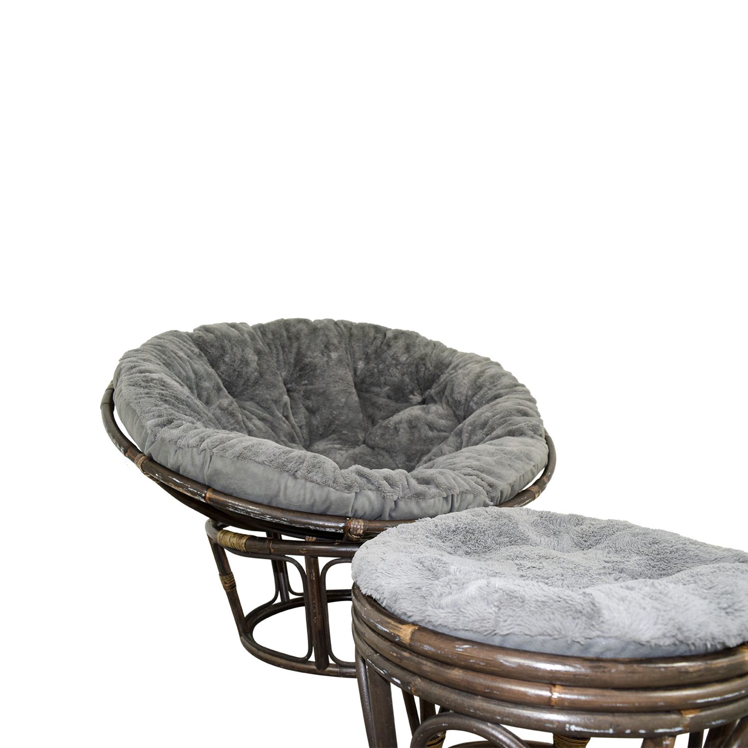 papasan chair ottoman swivel slipcover 86 off pier 1 with stool chairs