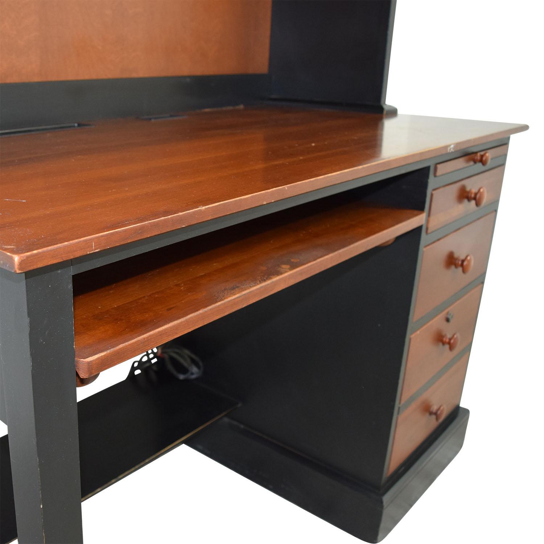 Ethan Allen Cherry Wood Desk With Hutch