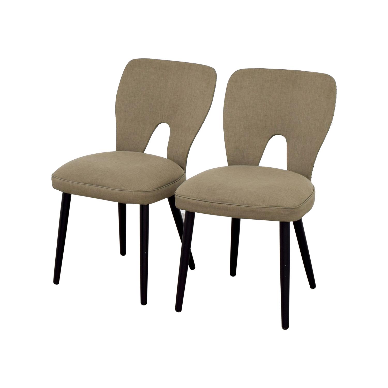 62 OFF  Wayfair Wayfair Upholstered Beige Dining Chairs