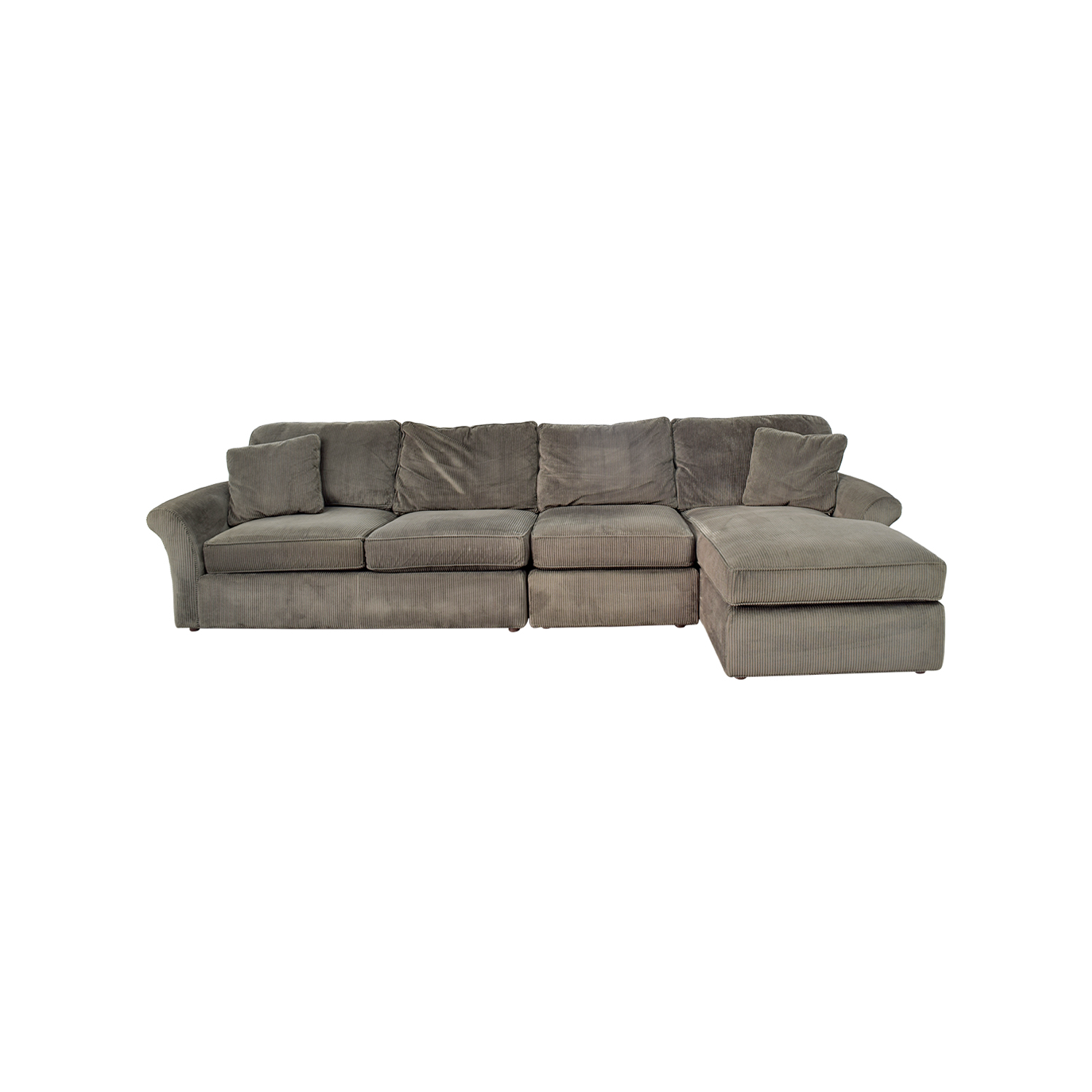 charcoal gray sectional sofa contempo sectionals used for sale