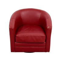 90% OFF - Bob's Furniture Bob's Furniture Red Leather ...