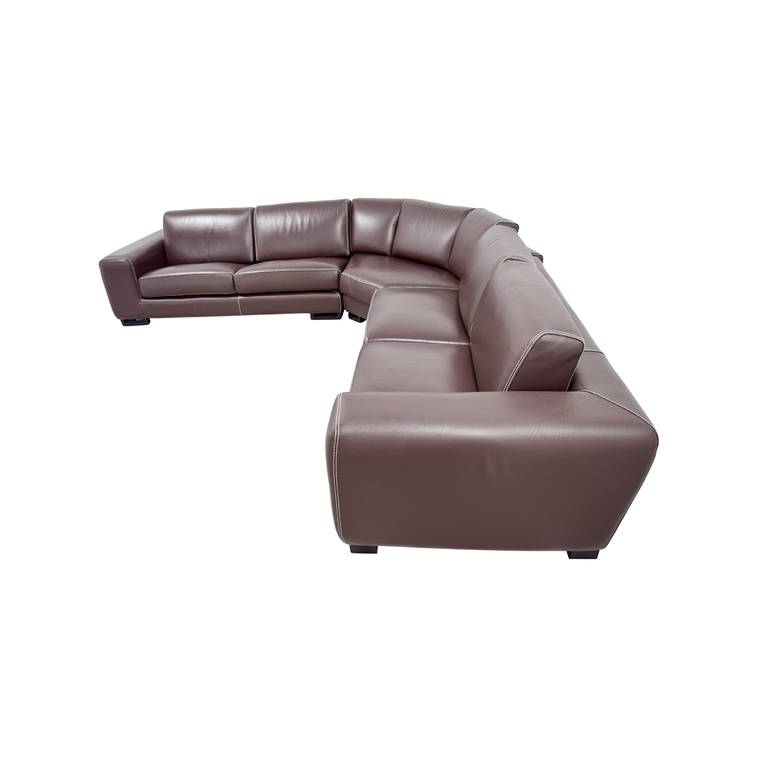 brown sectional sleeper sofa sure fit stretch pinstripe two piece slipcover 83 off roche bobois leather