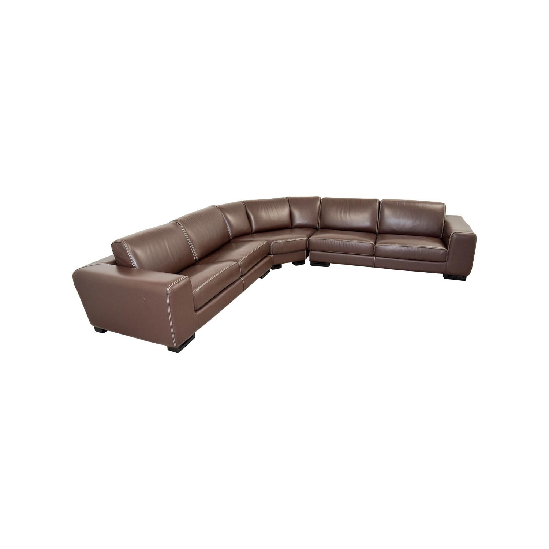 brown sectional sleeper sofa repair cushion shah alam 83 off roche bobois leather