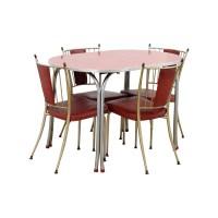 65% OFF - Retro Red Dinette Set / Tables