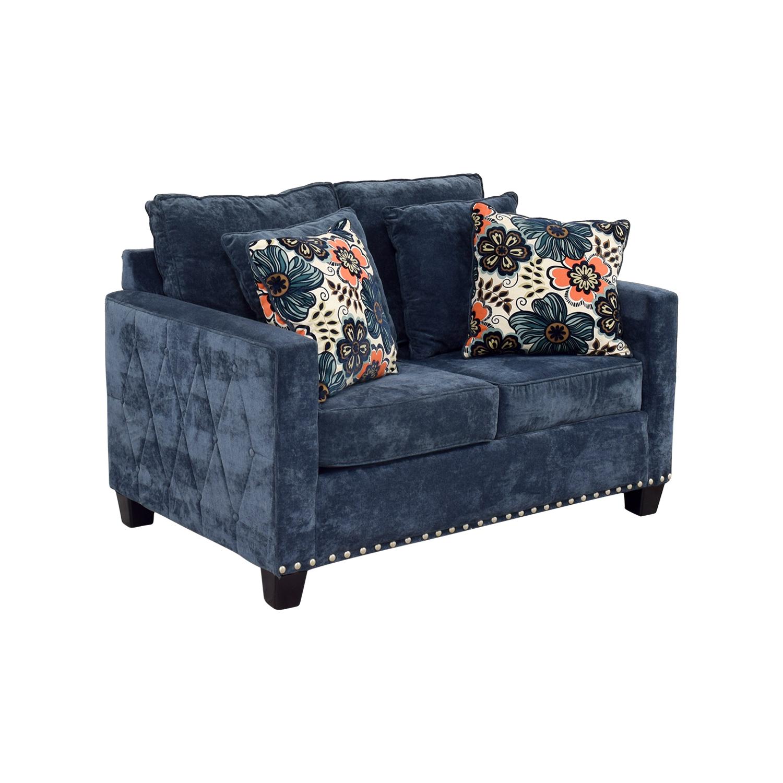bobs furniture sofa recliner next wilson teal 72 off bob 39s loveseat sofas