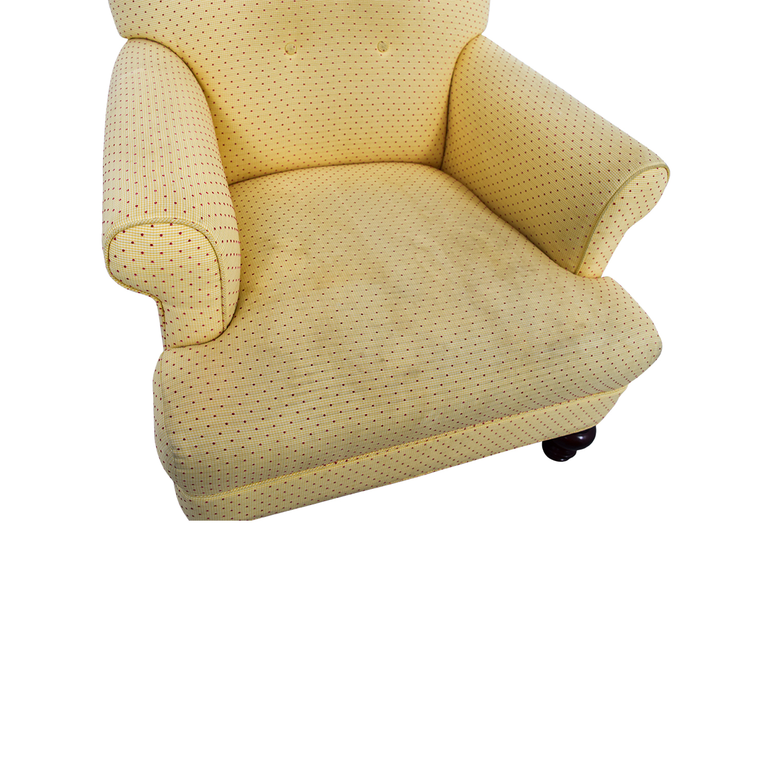 90 OFF  Yellow Arm Chair with Ottoman  Chairs