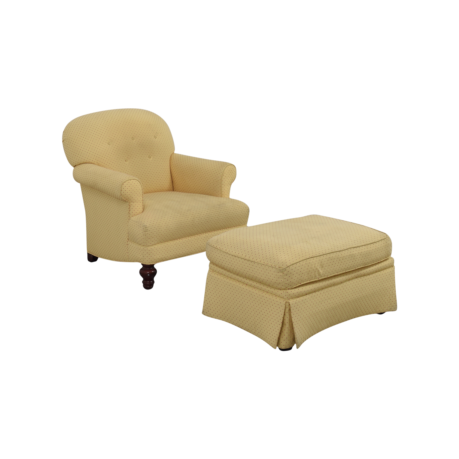 Chairs With Ottomans 90 Off Yellow Arm Chair With Ottoman Chairs