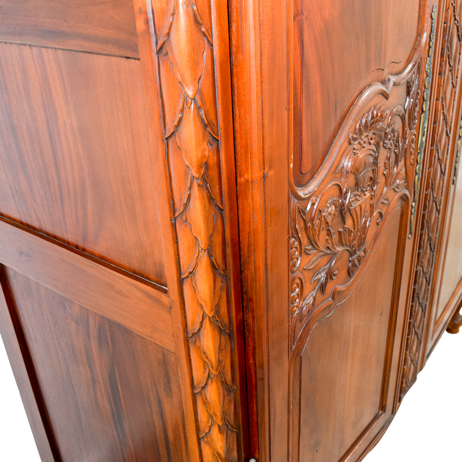 wooden hand chair bali covered beach chairs 74 off carved wood armoire storage