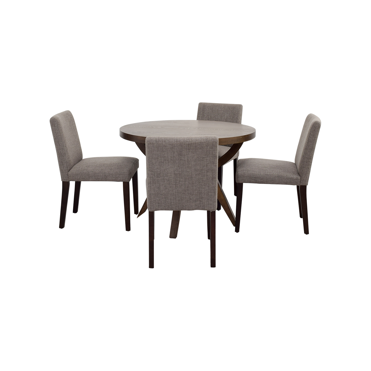 west elm chairs dining tolix chair yellow 51 off arc base pedestal table and