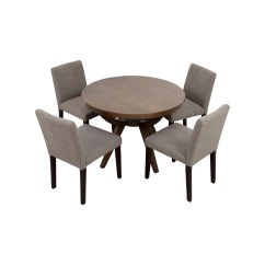 Pedestal Table And Chairs Desk Chair Riser Dining Sets Used For Sale
