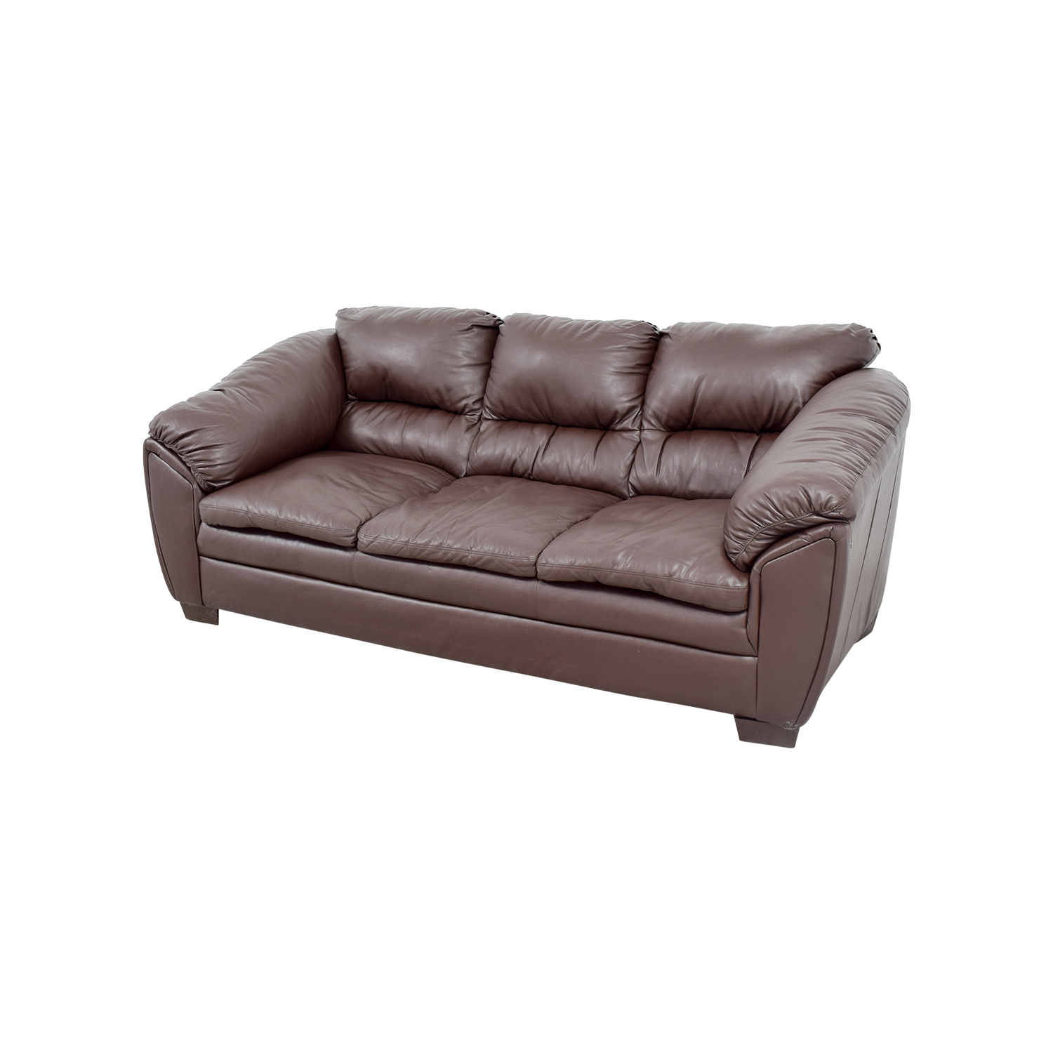 68 OFF  Brown Leather Sofa  Sofas